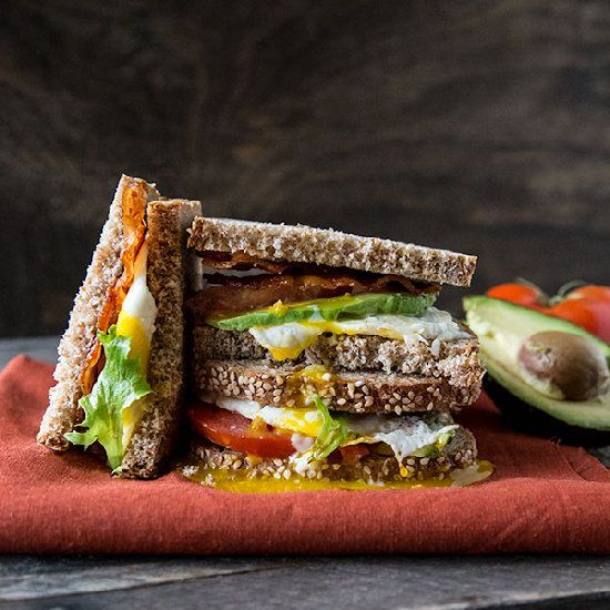 Egg and Avocado BLT with Chipotle Mayo by sweetremedy #Sandwich #BLT #Avocado #Egg