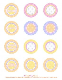 Free pink, orange, purple and yellow polka dot