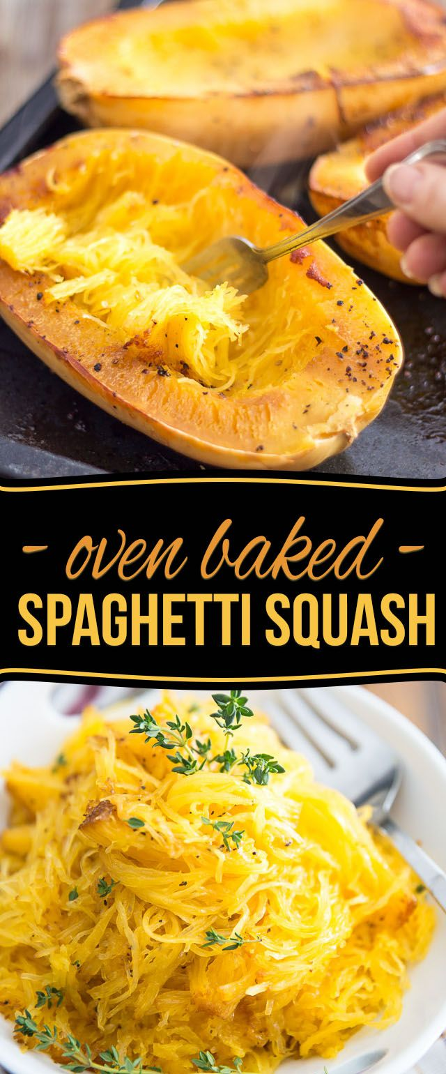 So very easy to make and so deliciously tasty, Oven Baked Spaghetti Squash might very well become your favorite pasta replacement!