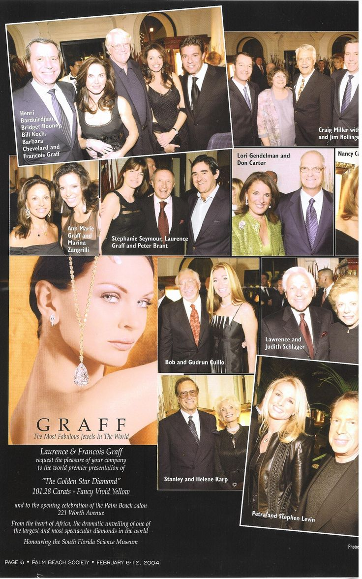 The who's who attended the fabulous opening for Graff in Palm Beach
