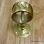 Rope Handrail Bracket Polished Brass