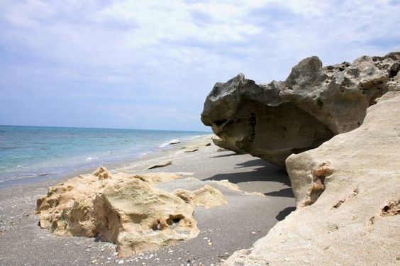 Blowing Rocks Preserve, Hobe Sound, FL On this preserve on Jupiter Island you'll see waves breaking on huge limestone formations, sending sprays up to 50 feet in the air. Don't miss the educational center, plant nursery, boardwalk, and butterfly garden.