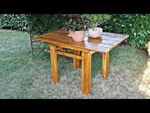 Come costruire un tavolo in legno Fai Da Te YouTube