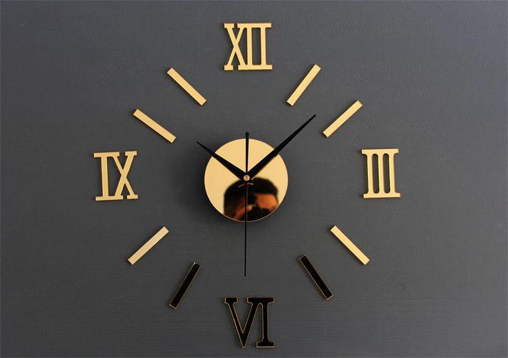 design wand uhr wohnzimmer wanduhr spiegeleffekt wandtattoo deko bürouhr büro | Uhren & Schmuck, Weitere Uhren, Wanduhren | eBay!