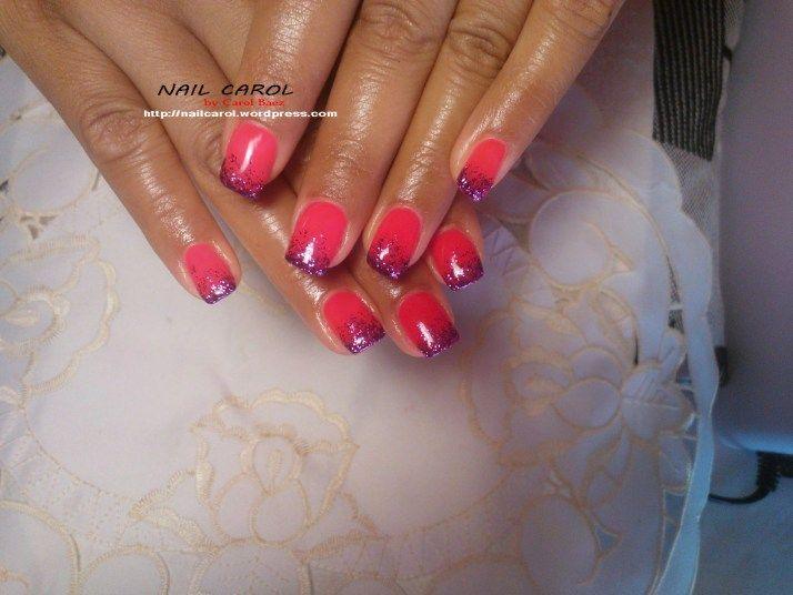 Contrasto Rosa fluo e viola glitter