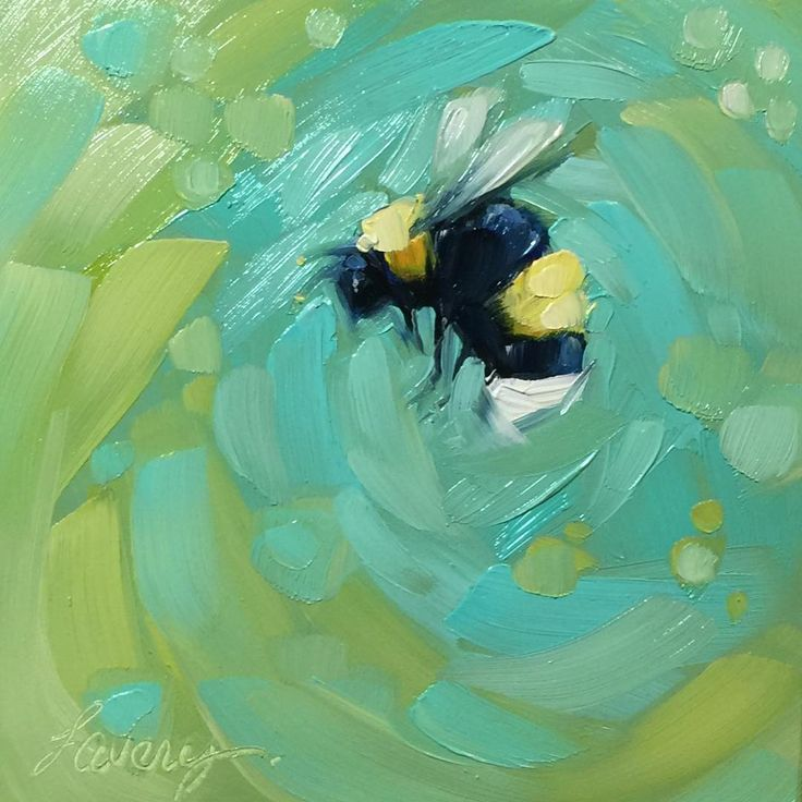 Best 25 bee art ideas on pinterest bee painting bee for Easy acrylic animal paintings