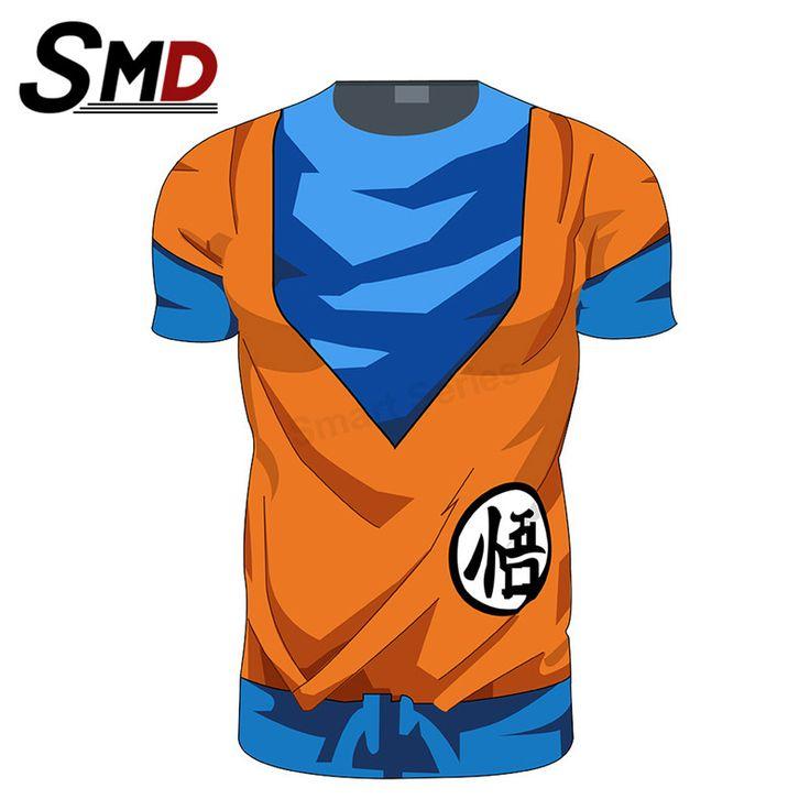 Anime Dragon Ball z Goku T Shirt Men/Women Super Saiyan Vegeta 3D Armour Costume  Fitness T-Shirt  Bicycle Jersey Cosplay