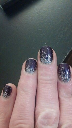 Purple with glitter imbre done by Becky @ Beauty Bar nail salon