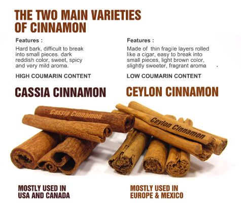 types of cinnamon - I knew there are two type of cinnamon, but I rarely find Ceylon cinnamon :/