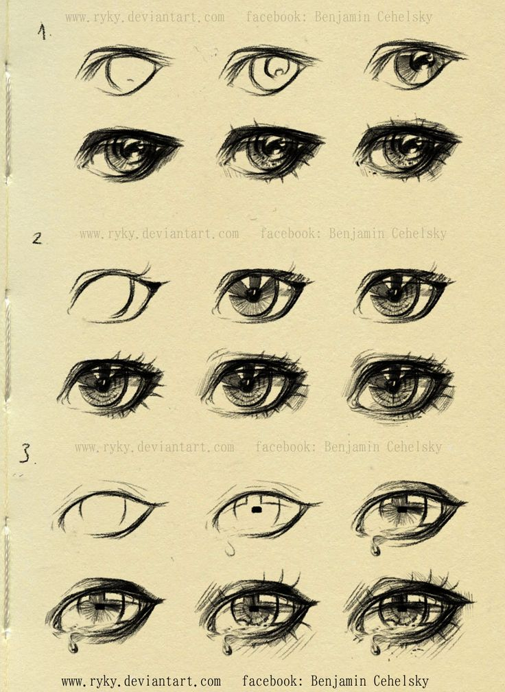 This is a picture of Rare Eye Injury Drawing References