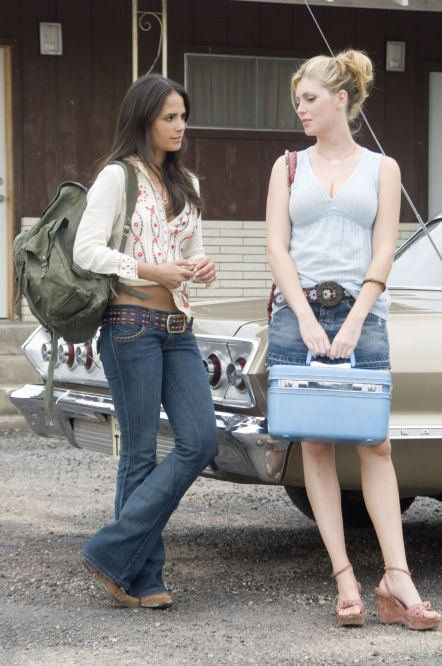 Jordana Brewster and Diora Baird in The Texas Chainsaw Massacre: The Beginning (2006)