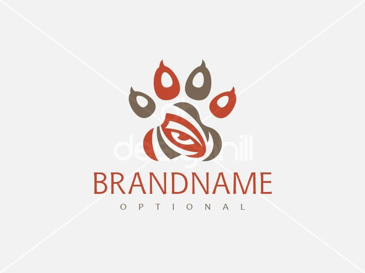 New logo design for sale on Design Hill - red, brown, animal, eye, protection, power, cat, tiger, wild, bear, vision, beast, god, ancient, paw, sight, aura, inner, third, sense, instinct, perception, training, veterinary, martial arts, yoga, meditation, life, security, optics, tame, logo, design, template,
