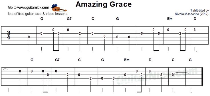 amazing grace easy guitar tab songs w guitar chords in 2019 easy guitar. Black Bedroom Furniture Sets. Home Design Ideas