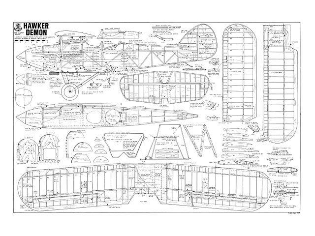 Hawker Demon - plan thumbnail