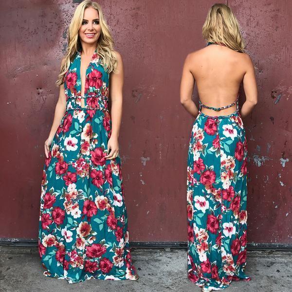 High Esteem Floral Maxi Dress