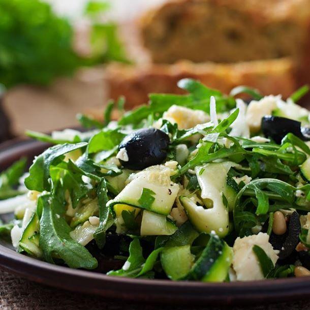 Courgettes en salade