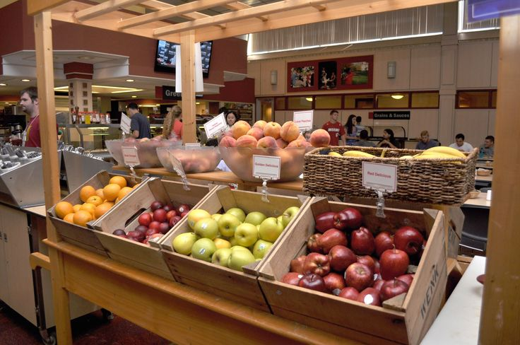 Fresh fruit is always available in the dining hall at Dickinson!