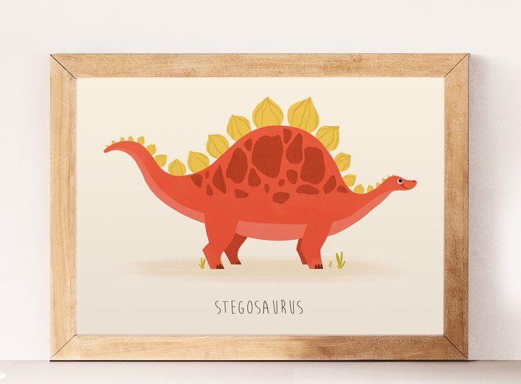 Dinosaurussen, Cute dinosaurussen, kwekerij dinosaurus, Stegosaurus, kunst aan de muur kinderkamer kwekerij prenten, grappige dinosaurussen, wand decor, kunst aan de muur, leuke kunst door NorseKids op Etsy https://www.etsy.com/nl/listing/511094989/dinosaurussen-cute-dinosaurussen