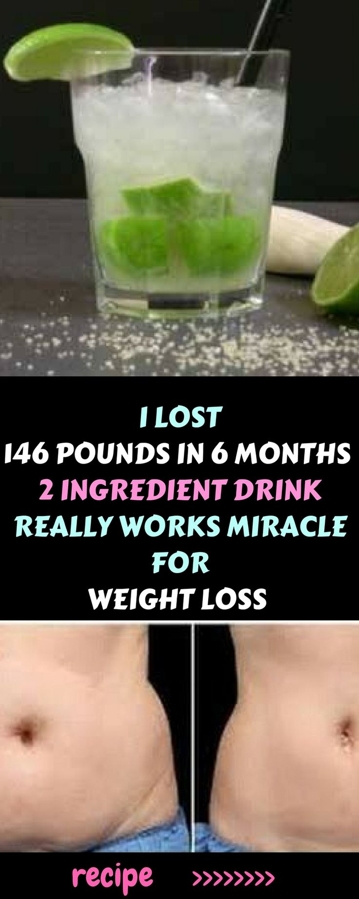 I LOST 146 POUNDS IN 6 MONTHS, THIS 2 INGREDIENT DRINK REALLY WORKS MIRACLE FOR ...