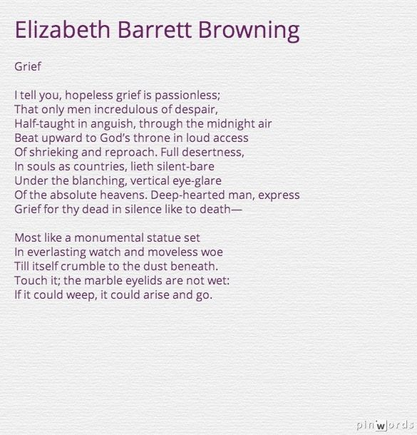 critical essays elizabeth barrett browning Elizabeth barrett browning was one of the most prominent poets of the victorian   in this critical analysis, whiting portrays barrett browning as a poet who uses.