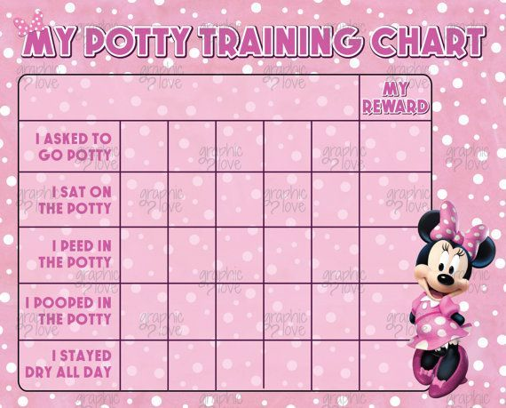 Printable Minnie Mouse Pink Potty Training Chart FREE Punch