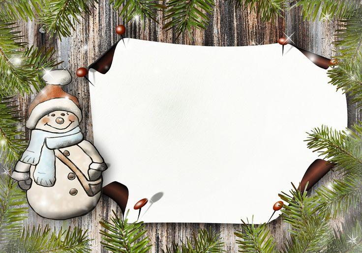 Człowiek Śniegu, Papier, Karta Z Pozdrow, Pocztówka