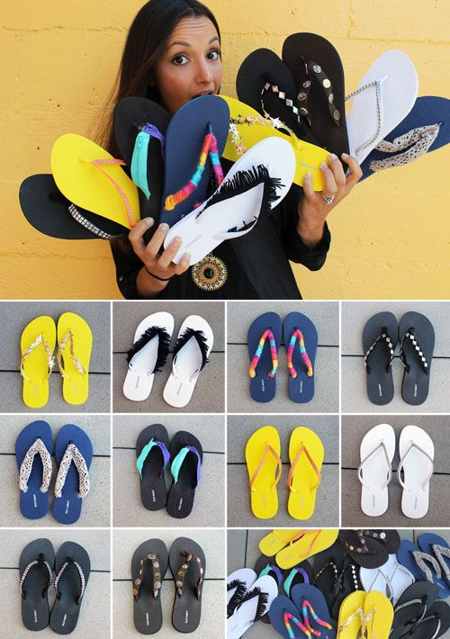 10 Ways to Trick Out Your Flip Flops, one can NEVER have too many flip flops