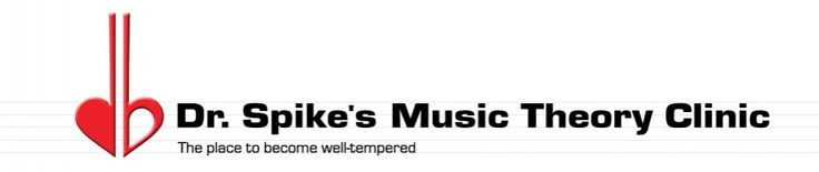 Dr. Spike's Music Theory Clinic |  - Music Theory Lessons and Hundreds of Worksheets (Note Naming (Letter Names of Notes), Intervals (The distance between notes)  Note Jumbles (Learning minor scales)  Triads (Inversion, figured bass, and Roman numerals), Meter & Rhythm (Time signatures, simple vs compound meter)  Melodic Dictation (Ear training practice) for Students and Teachers. 100% of the optional donation is reinvested in providing free content.