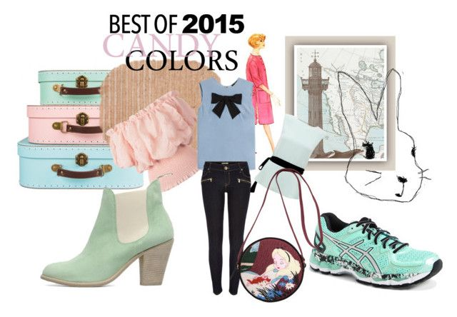 """""""Pastel Trend- Best of 2015"""" by peeweevaaz ❤ liked on Polyvore featuring Steffen Schraut, Raoul, Asics, River Island, Olympia Le-Tan, Pink, Blue, mint, pastels and bestof2015"""