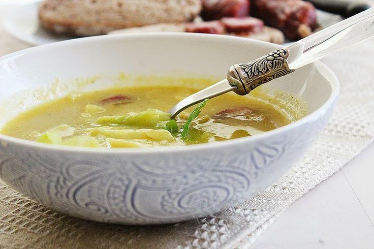 Cozinhadaduxa: Sopa de Couve com Frango e Chouriça