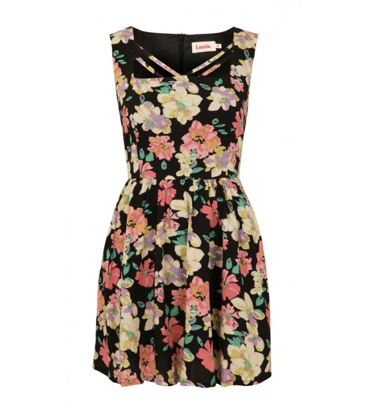 Go flirty in florals this SS13 with the Edmee dress.