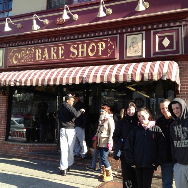 Carlos's Bakery, Hoboken NJ.  From the reality show Cake Boss.