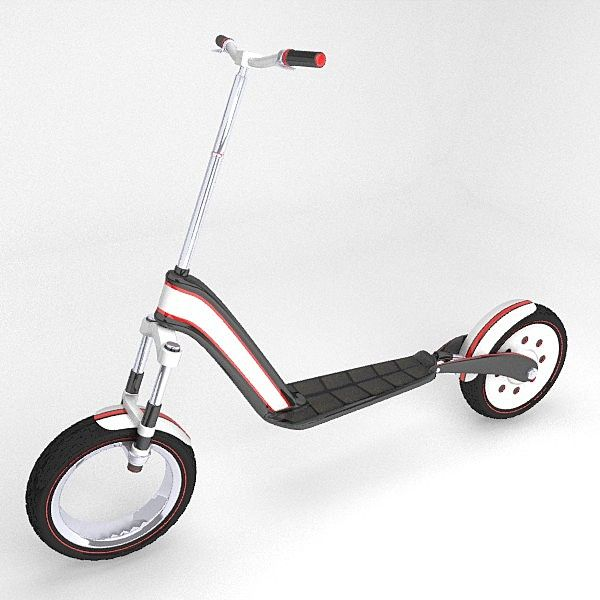 electric scooter 3d model kickboard pinterest scooters. Black Bedroom Furniture Sets. Home Design Ideas