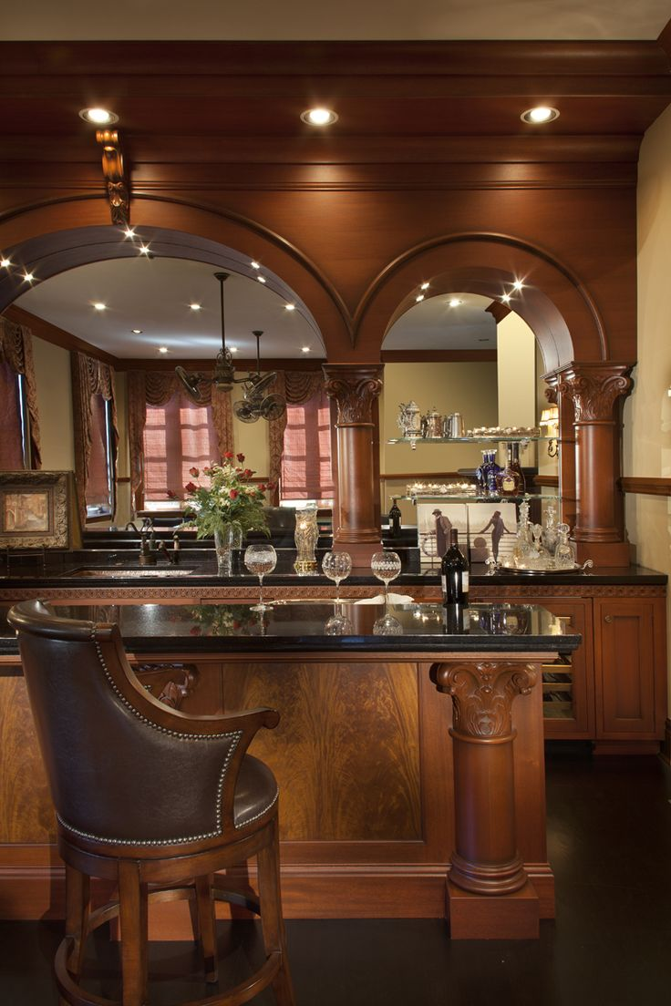 steiner u0026 houck mahogany traditional wet bar with dedion faucet