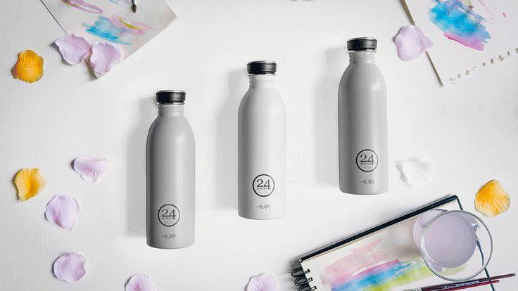 Neu in Pastell: 24Bottle Edelstahl Trinkflaschen ohne Innenbeschichtung und ohne Weichmacher!