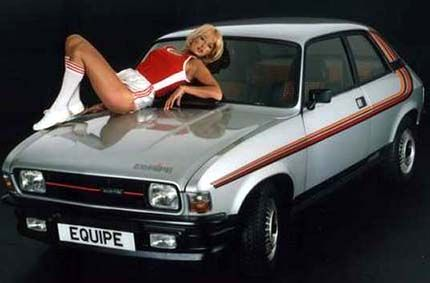 Austin Allegro, this is wrong in so many ways.. :) brechin city top on the quine for a start, take it OFF! ;-)