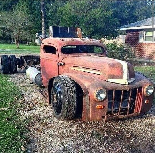 Dirty dirty dually rat rod chopped and channeled setting on bags!