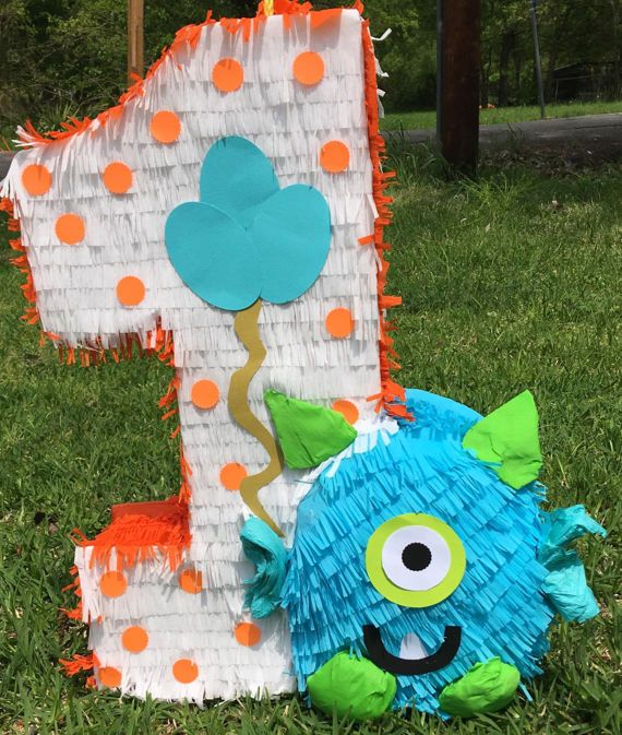 Monster pinata monster theme party monster decor