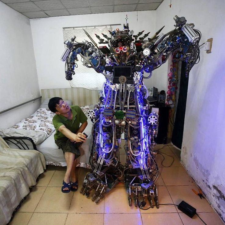 """via @businessinsideruk  China is known as an industrious nation and after pictures surfaced of one Chinese teacher who built a phenomenal """"Iron Man"""" Hulkbuster replica in his garage it seemed like the right time to take a look at some of the country's most impressive home made inventions.  From full size working airplanes to wooden yet electronic cars the Chinese have spent anything from a couple of months to several years knocking up some pretty impressive modes of transports and robots…"""