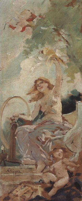 .:. Γύζης Νικόλαος – Gyzis Nikolaos [1842-1901] Αλληγορική σκηνή