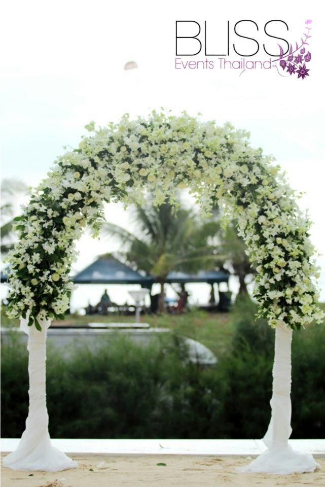 Beautiful background of the beach wedding in Phuket