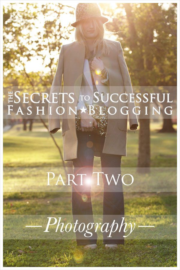 Secrets to successful fashion blogging: photography