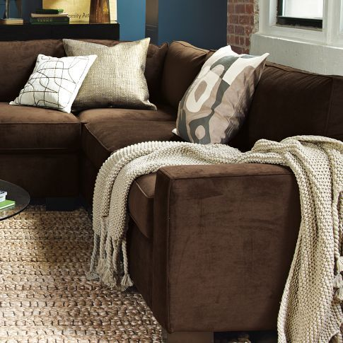 throws for cream leather sofa wall beds with uk best 25+ chocolate brown couch ideas that you will like on ...