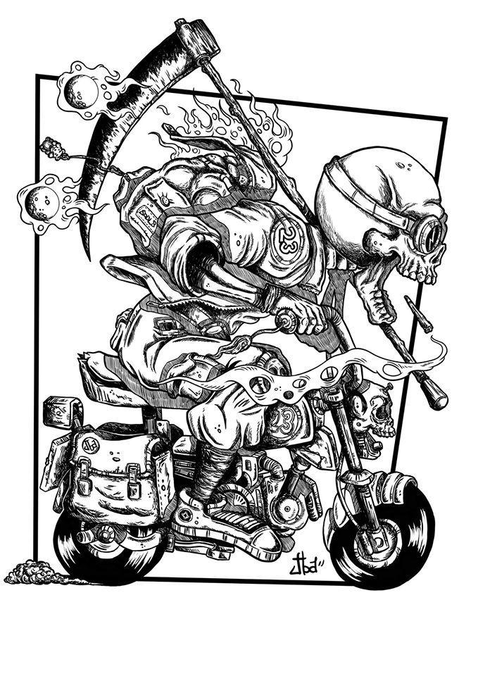 Gambar TTD oleh Alex Sanchez Kartun, Logo keren, Gambar