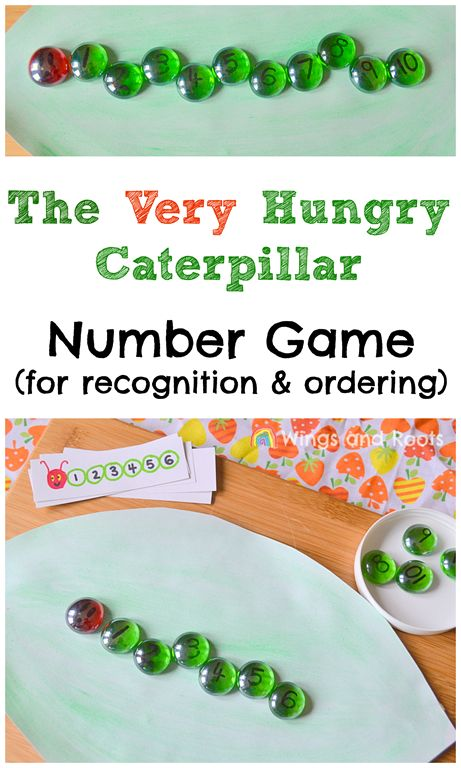 The Very Hungry Caterpillar Maths Game for number recognition and ordering                                                                                                                                                                                 More