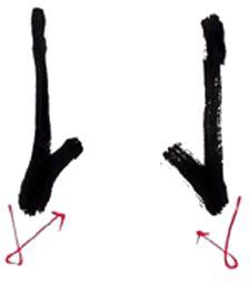 (1) 운필법 (運筆法) 획을 긋거나 점을 찍는 방법을 운필법이라 하는데 점,획을 이루는데 필요한 모든 수단...