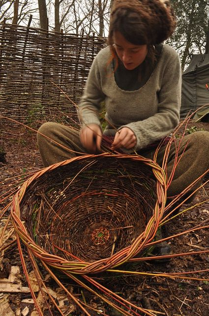 basket weaving...a dying art. I love the idea of using natural, sustainable earth friendly materials like this!