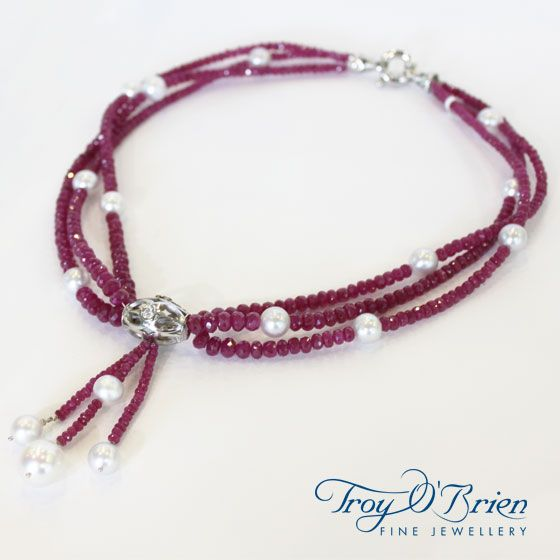 Seduction on the Rocks! White gold, Diamond, Ruby and South Sea Pearls... need I say more? ;)