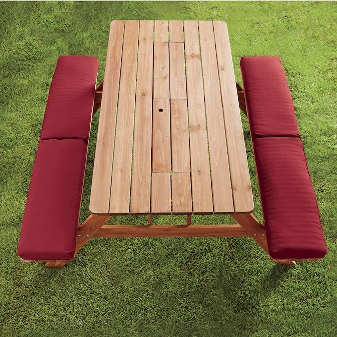 Picnic Table Bench Cushion Picnic Table Bench Bench Table Outdoor Picnic Tables