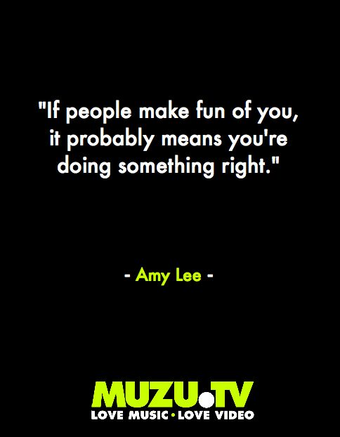 An Inspirational quote from Evanescence's Amy Lee...#music #quotes #inspire Click to watch Evanescence music videos and lots more here: http://www.muzu.tv/evanescenceytdh5avswa/